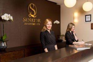 reception Senator Apartments