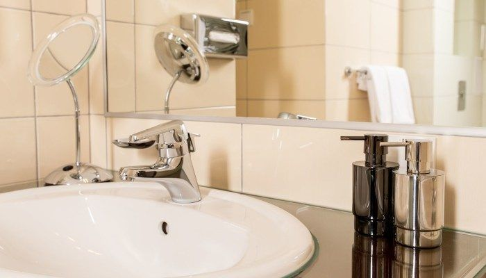 bathroom in the apartment Senator
