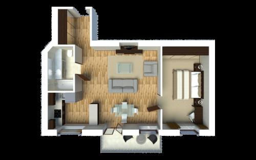 Comfort Apartment (1-bedroom)