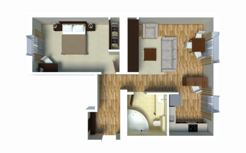 Gourmet Apartment (1-bedroom)