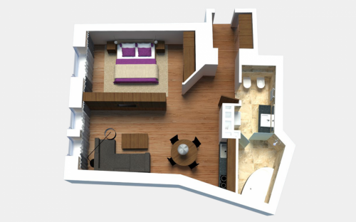 Egoist Apartment (1-bedroom)
