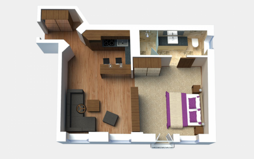 Frequent Visitor Apartment (1-bedroom)