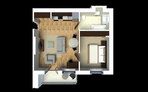 Gourmet Apartment (1-bedroom)